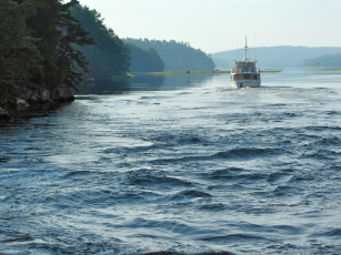 Current in the Sasanoa River between Bath and Boothbay Harbor